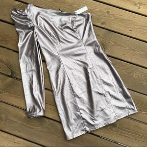 NWT! Lovers + Friends Mallory Dress, color Pewter